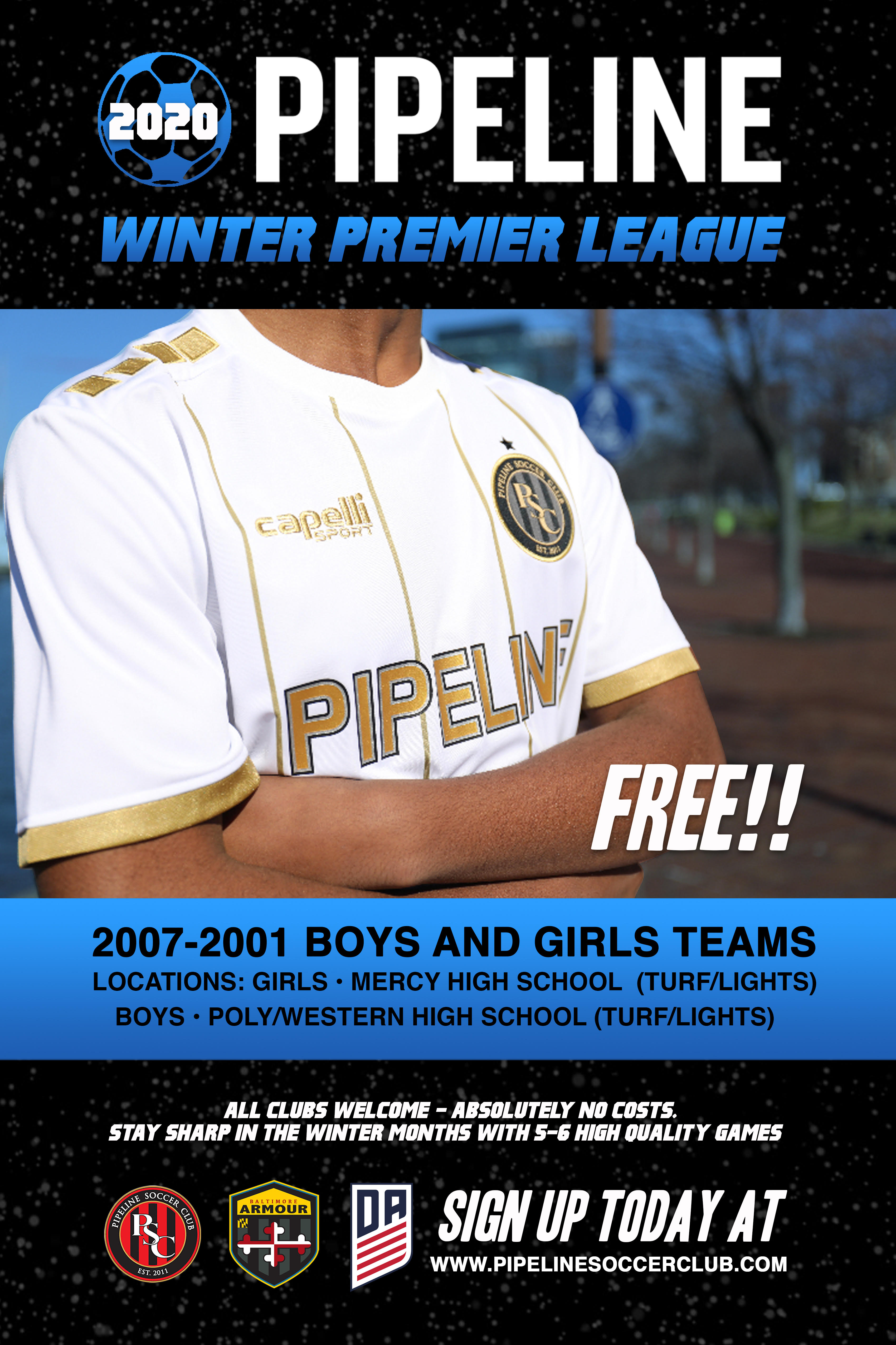 WINTER LEAGUE AVAILABLE AUGUST 1ST